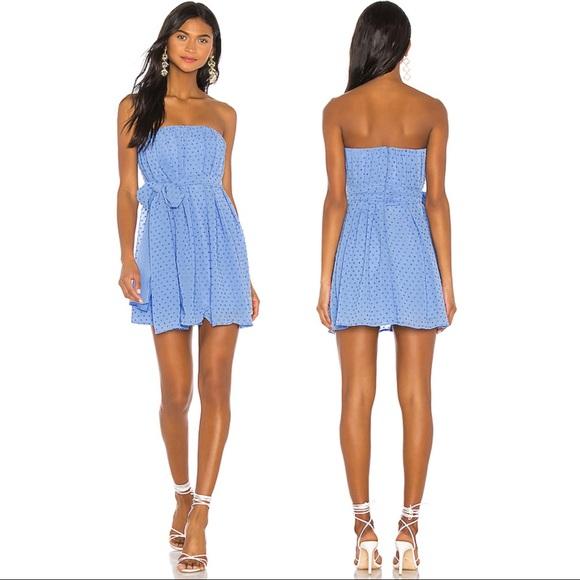 NWT NBD Paradisco Mini Dress in Periwinkle Blue